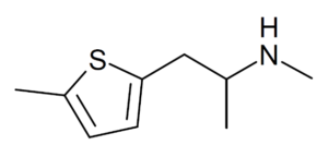 Diagram of the chemical structure of mephedrene